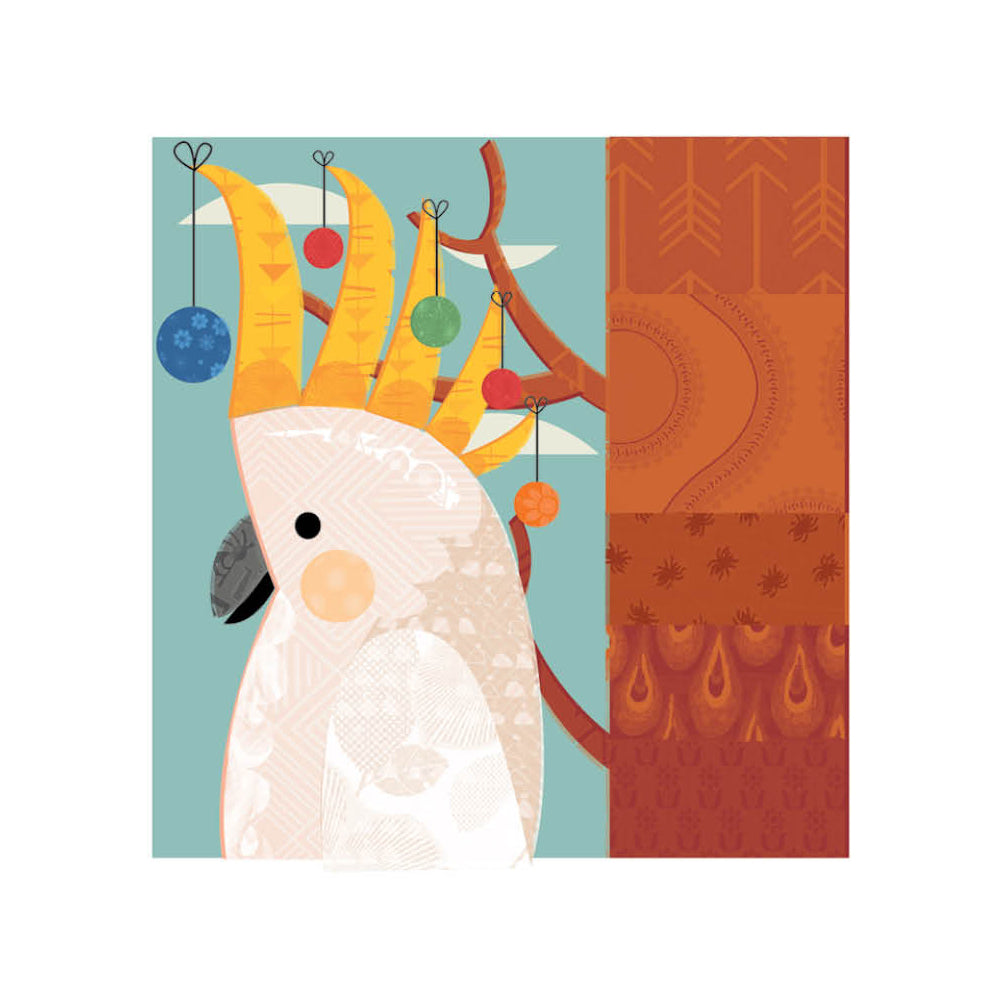 Card - Xmas Cockatoo