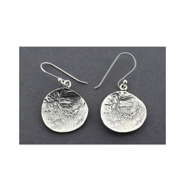 Concave Distressed Silver Earrings