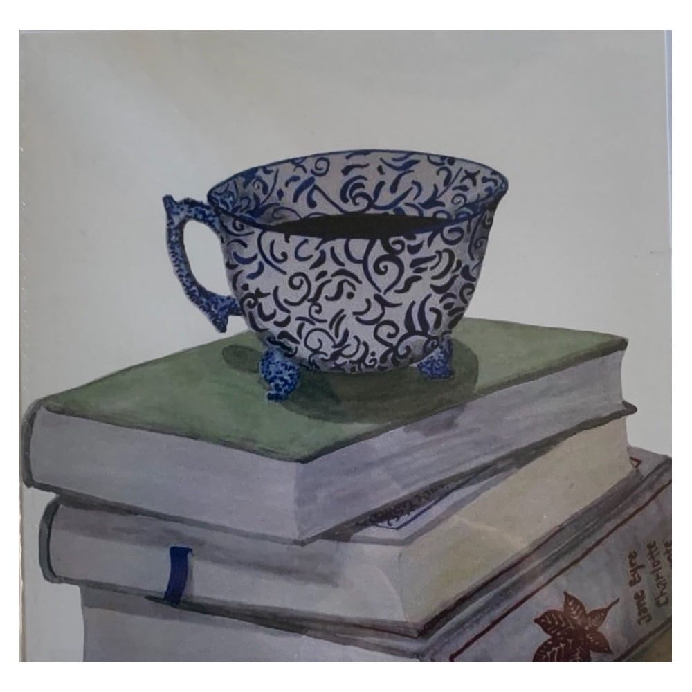 Card- Cuppa and Books