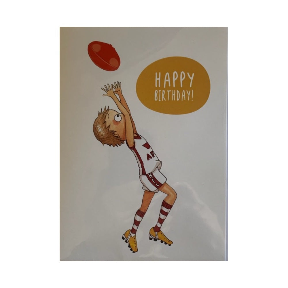 Footy-birthday-card