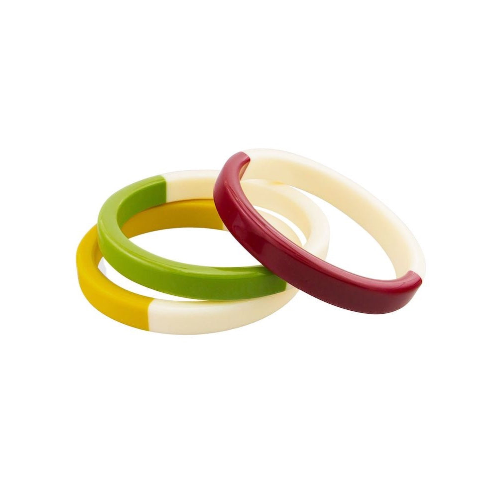 Set of 3 Forest Bangles
