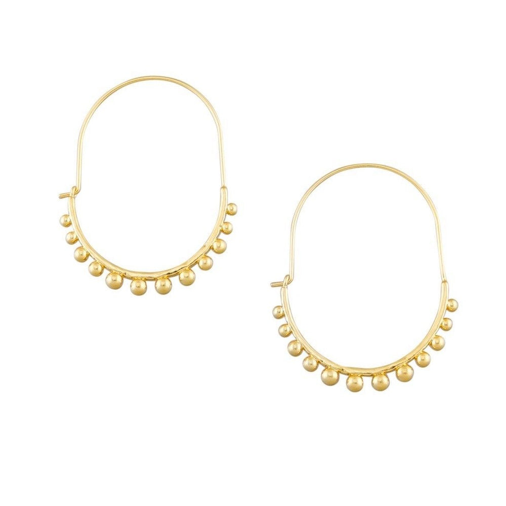 Gold Knobby Hoops