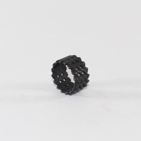 Herringbone Ring - Black