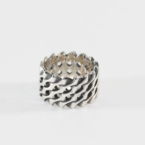 Herringbone Ring - Silver