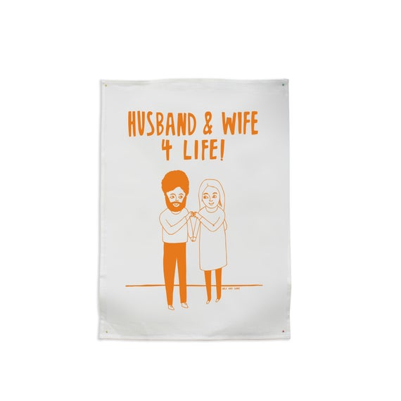 Husband & Wife Teatowel