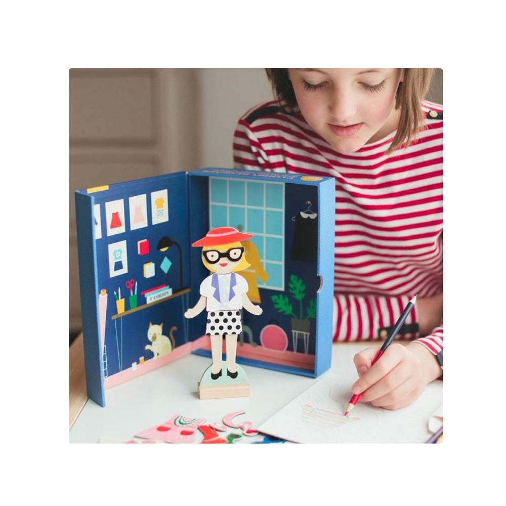 magnetic fashion designer dress up for imaginative play.