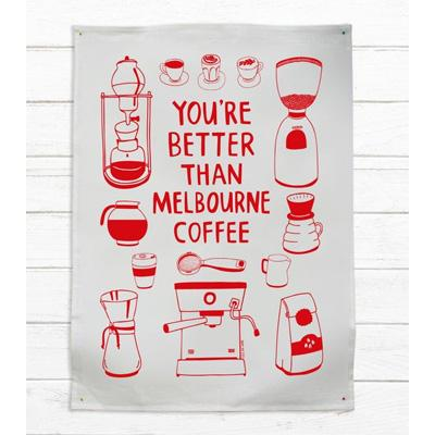 Melbourne Coffee Lovers Teatowel