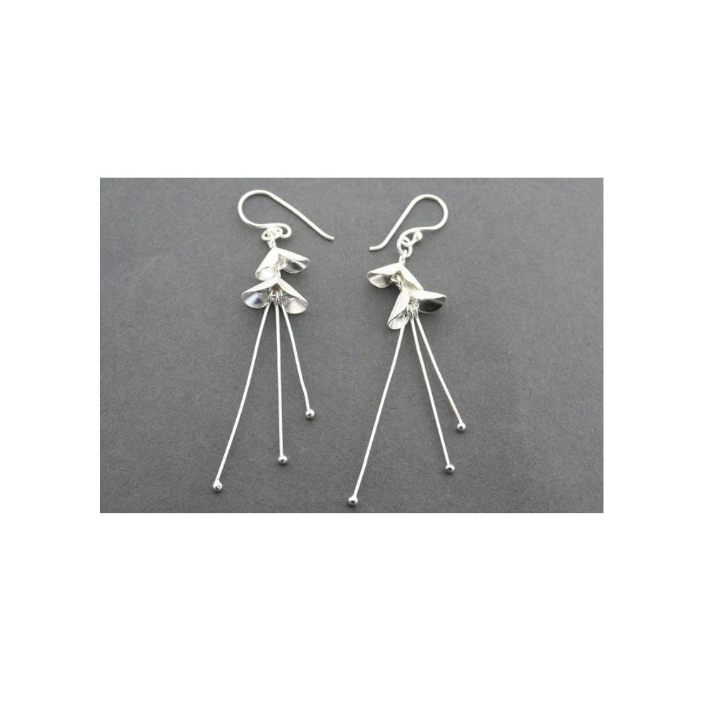 3 drop Samarai Silver earrings