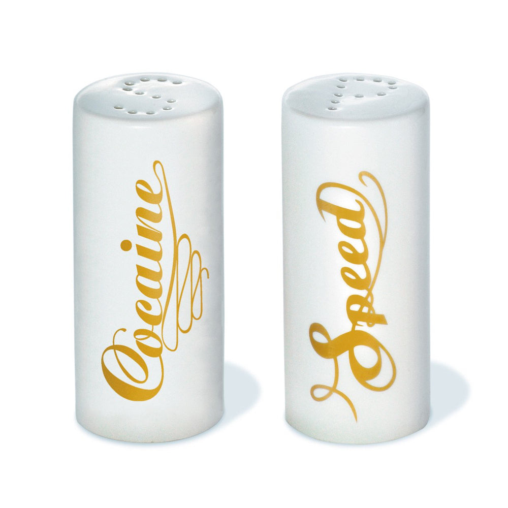Speed and Cocaine (Salt & Pepper) shakers