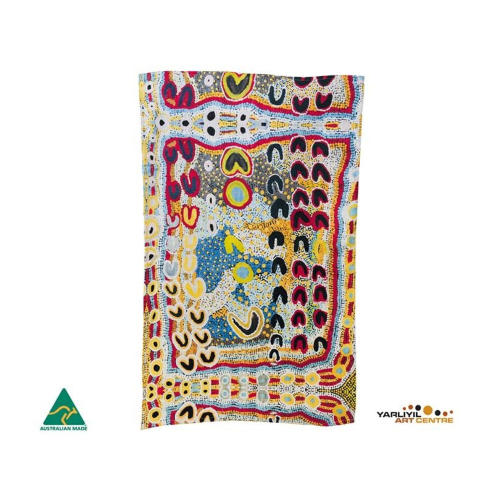 aboriginal art tea towel