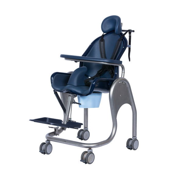 Tilt-in-space shower toilet chair (Boris)