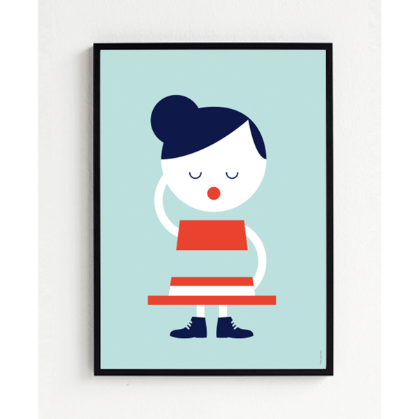 KIND OF MINE* Froh und Frau Art Print Hat Girl