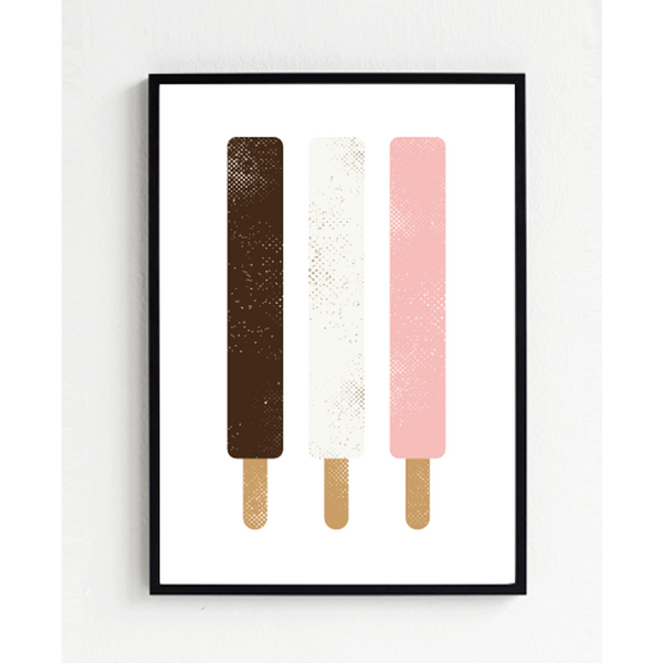 KIND OF MINE* Froh und Frau Art Print 3 Popsicles