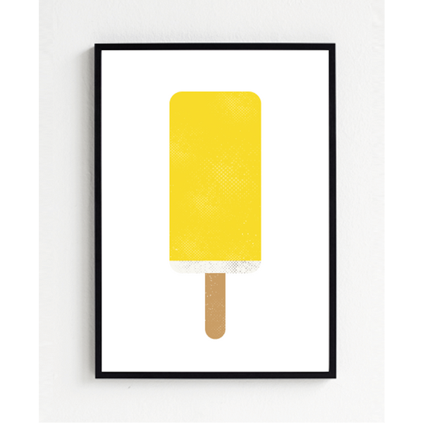 KIND OF MINE* Froh und Frau Art Print Yellow Popsicle