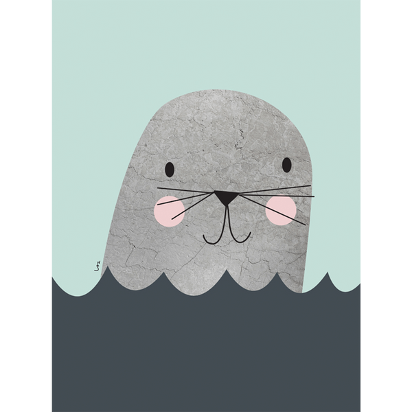KIND OF MINE* Isa Form Art Print Little Seal