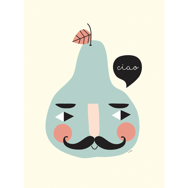 KIND OF MINE* Isa Form Art Print Mr Pear