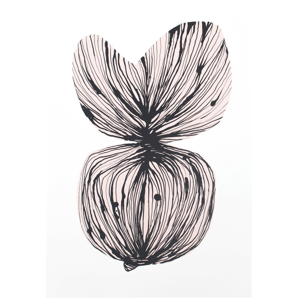 KIND OF MINE* Meyer-Lavigne Art Print Pink Leaf
