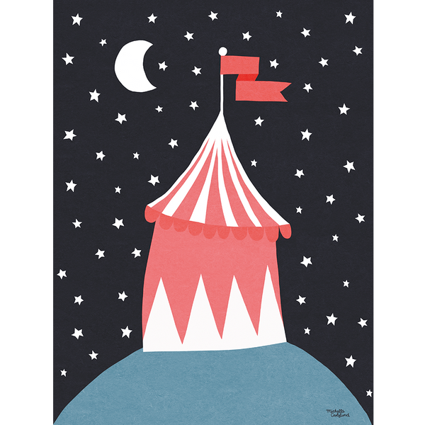 KIND OF MINE* Michelle Carlslund Illustration Art Print Circus Tent