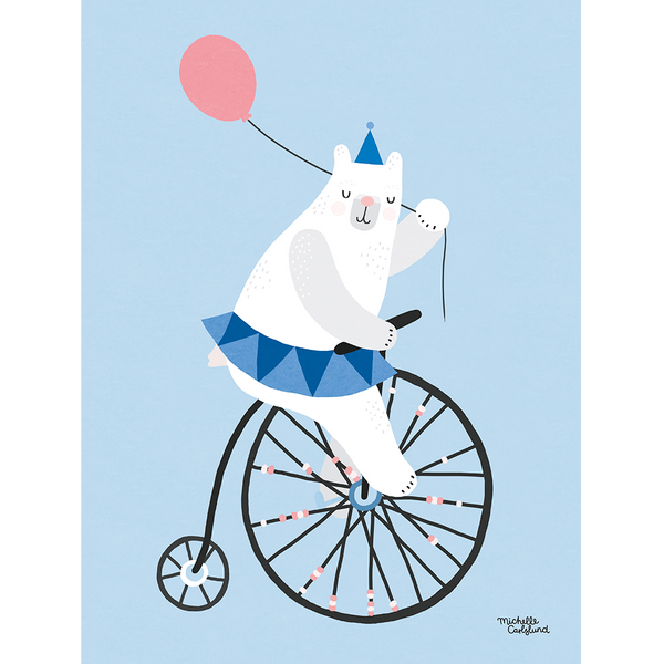 KIND OF MINE* Michelle Carlslund Illustration Art Print Cycling Bear