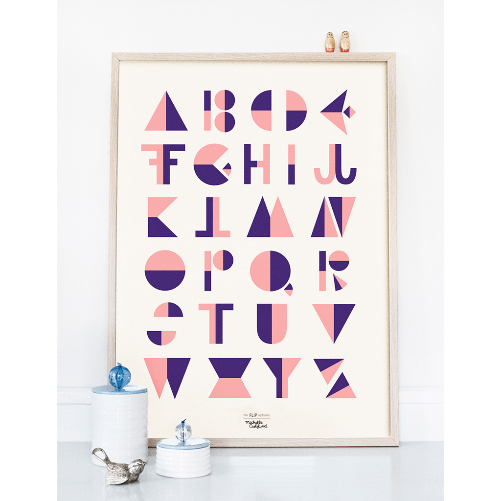 KIND OF MINE* Michelle Carlslund Illustration Art Print Flip Alphabet