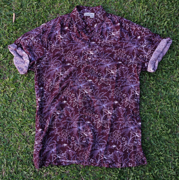 Kenny Flowers Shirt 4th Glass Maroon Bali Product