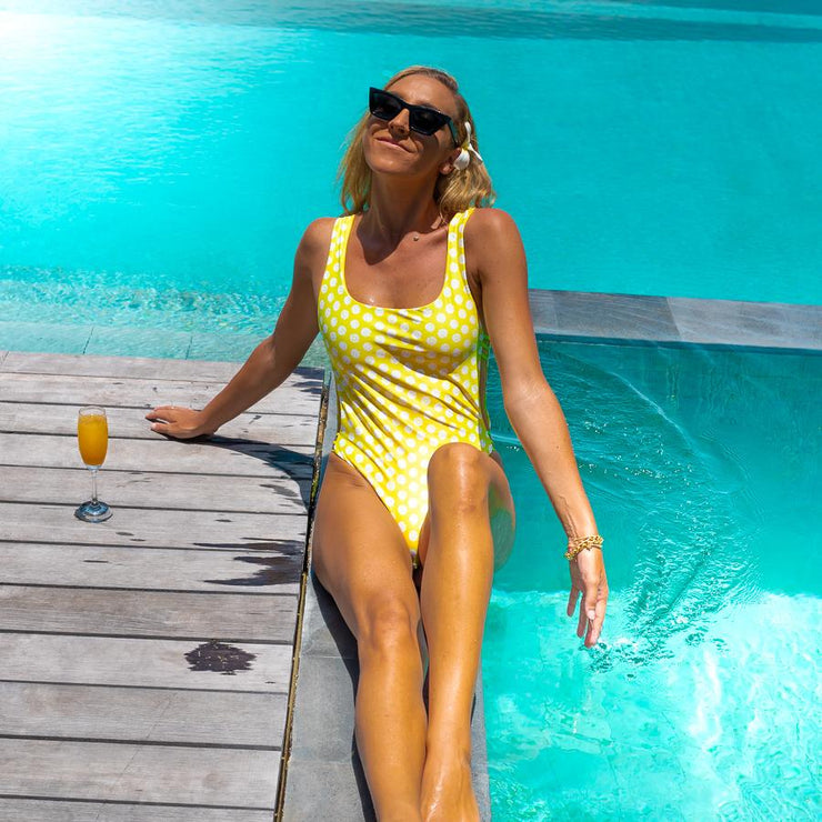 The Amalfi - Reversible Yellow One Piece