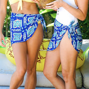 bachelorette party blue tribal sarong outfit