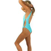 The South Beach - Reversible Aqua One Piece
