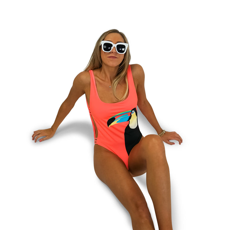 The Rio - Coral Reversible One Piece