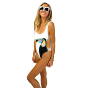 The Rio - White Toucan One Piece