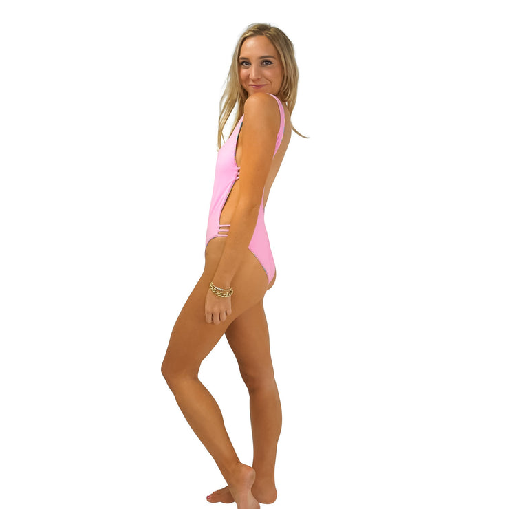 The Copacabana - Reversible Pink One Piece