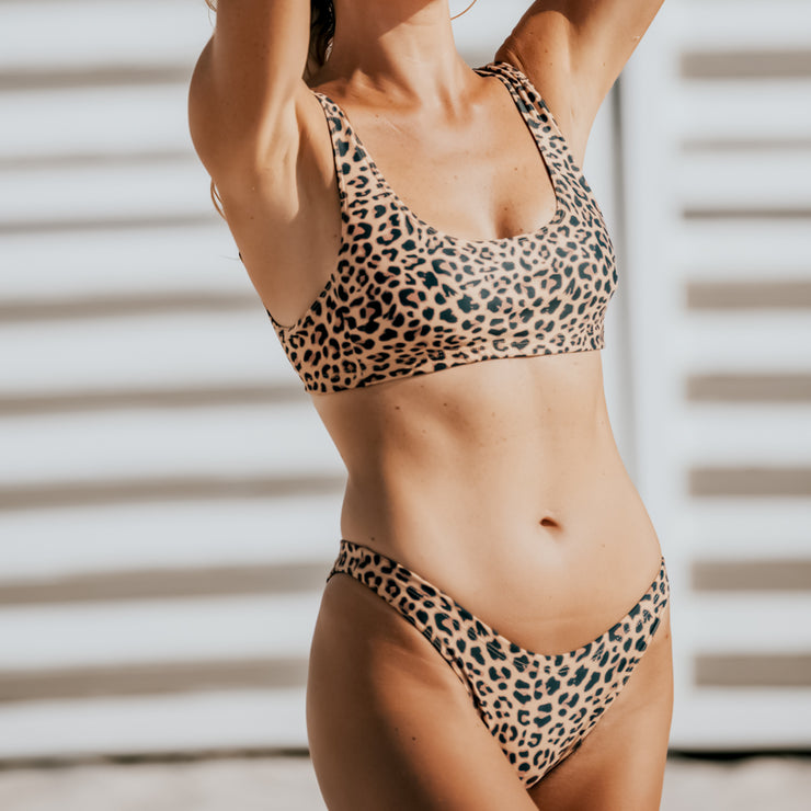 The Sahara - Leopard Sporty Bikini Bottom