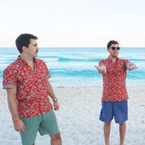 Kenny Flowers Shirt Macarena Red Beach Front