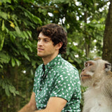 Kenny Flowers Shirt Monkey Business Green Pensive