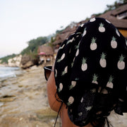 Kenny Flowers Sarong Fineapple Black Head Wrap Pineapple