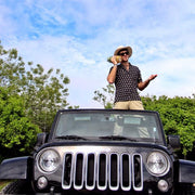Kenny Flowers Shirt Napple Black Jeep Pineapple Hamptons