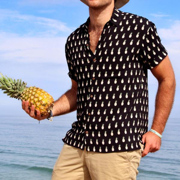 Kenny Flowers Shirt Napple Black Product Pineapple