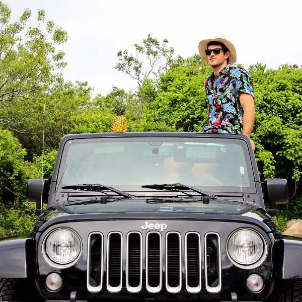 Kenny Flowers Shirt Pardon My Garden Black Hamptons Jeep