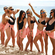 tropical bachelorette party matching sarongs