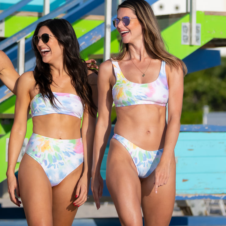 The Malibu - Tie Dye Sporty Bikini Bottom