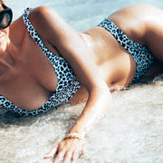 The Aspen - Snow Leopard Sporty Bikini Bottom