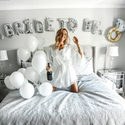 The Bride-To-Beach - White Kimono with Lace Trim