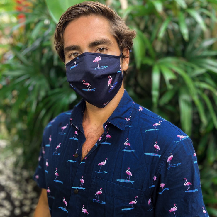The Waka Flockers Shirt + Flamingo Face Mask Combo