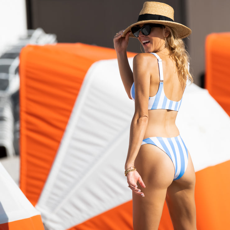 The Carolina - Striped Sporty Bikini Bottom