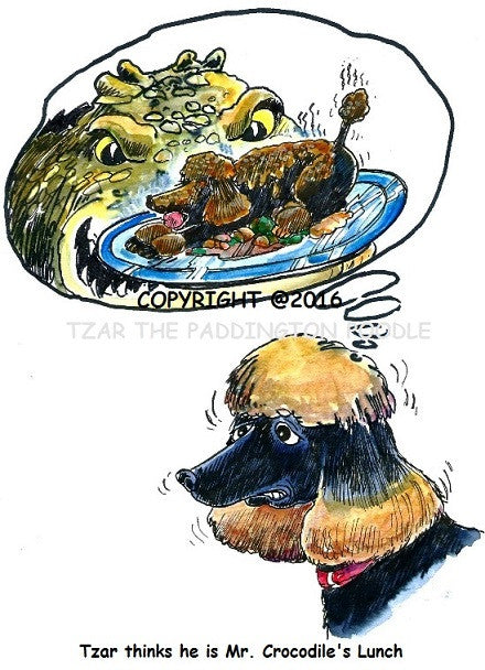 PRINT - from the Crocodile Encounter Collection - Tzar thinks he's lunch