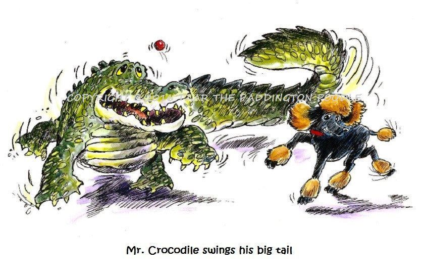 PRINT - from the Crocodile Encounter Collection - Mr. Crocodile swings his big tail
