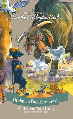 BOOK - The Adventures of Tzar the Paddington Poodle: Brahman Bull Encounter