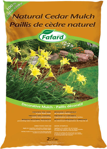 Mulch-Natural Cedar (10 bags for $50)