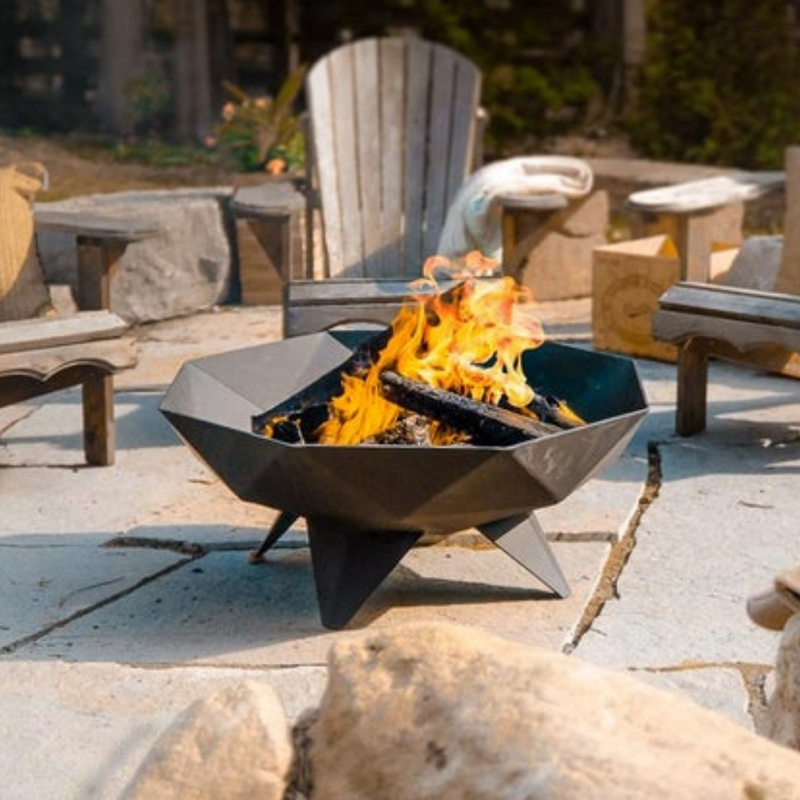 Polygon Bowl Outdoor Fire Pit