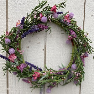 Spring Wreath - Corn Flower & Lavender